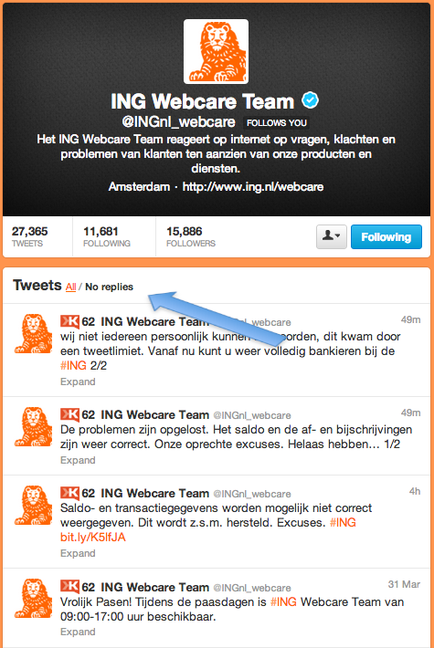 No replies @INGnl_webcare